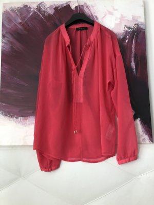 Selected Femme Transparente Bluse Hippie Oversize Tunika pink