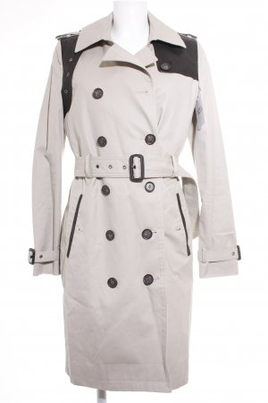 Selected Femme Trenchcoat graubraun-schwarz Elegant