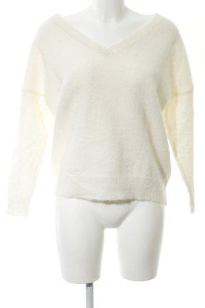 Selected Femme V-Ausschnitt-Pullover weiß Business-Look