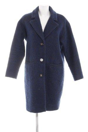 Selected Femme Wollmantel blau Business-Look