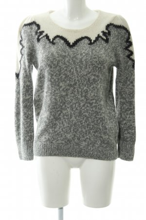 Selected Femme Wollpullover abstraktes Muster Casual-Look