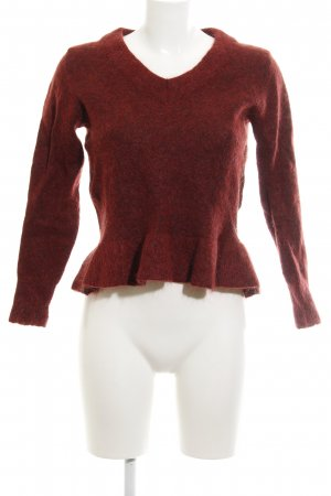 Selected Femme Wollpullover rostrot Casual-Look