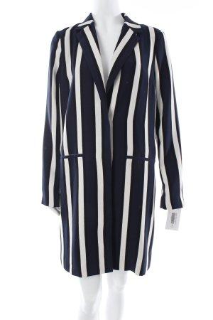 Selected Jacke dunkelblau-weiß Streifenmuster Urban-Look