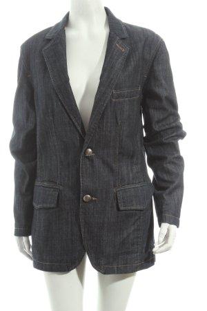 Selected Jeansblazer dunkelblau-wollweiß Casual-Look