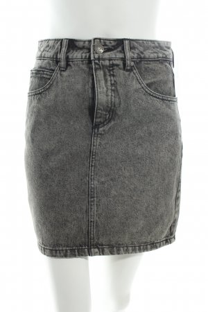 Selected Jeansrock grau-schwarz Washed-Optik