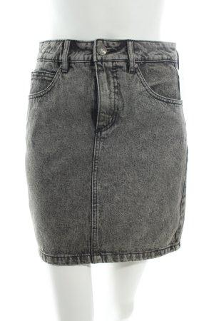 Selected Jeansrock grau-schwarz Washed-Optik