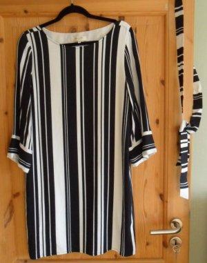 SELECTED Kleid, gestreift, schwarz/weiß-wollweiß, Gr.40, mit abnehmbaren Bindegürtel,neuwertig
