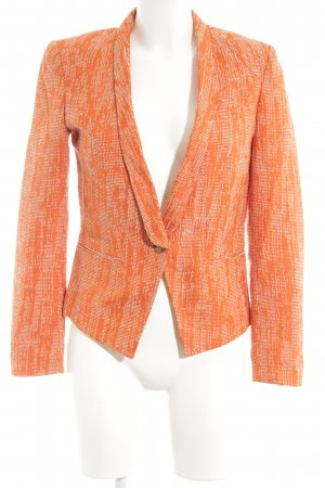 Selected Kurz-Blazer hellorange-weiß Allover-Druck Casual-Look