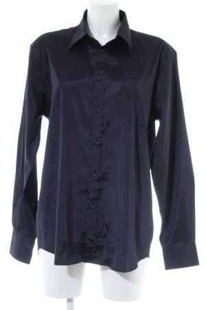 Selected Long-Bluse dunkelblau Elegant
