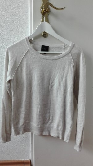 Selected Pullover Angora beige nude Lochmuster XS 34