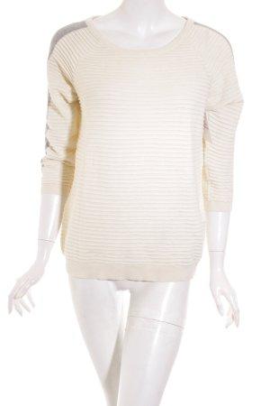 Selected Pullover grau-wollweiß Casual-Look