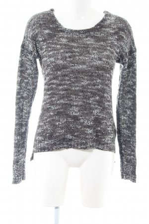 Selected Rundhalspullover hellgrau meliert Casual-Look