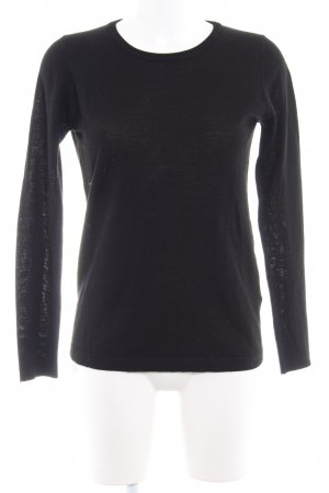 Selected Strickpullover schwarz Casual-Look