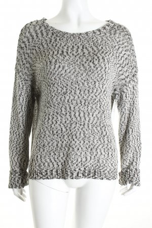 Selected Strickpullover weiß-schwarz Casual-Look