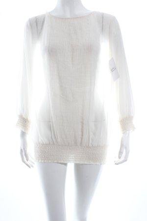 Selected Transparenz-Bluse creme Romantik-Look