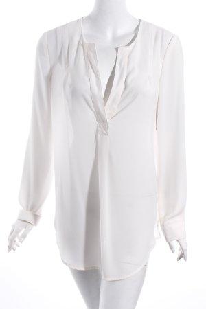 Selected Transparenz-Bluse wollweiß schlichter Stil