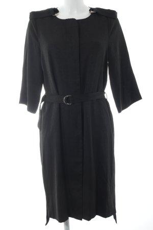 Selected Trenchcoat schwarz-silberfarben Street-Fashion-Look