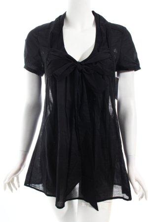 Selected Tunikabluse schwarz schlichter Stil
