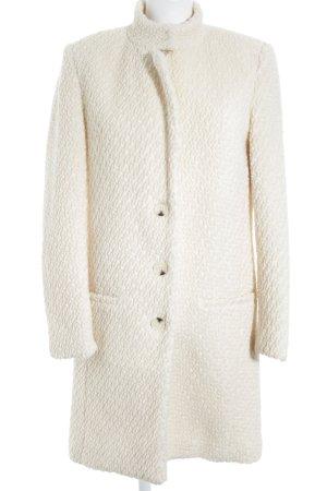 Selected Manteau en laine blanc cassé style décontracté