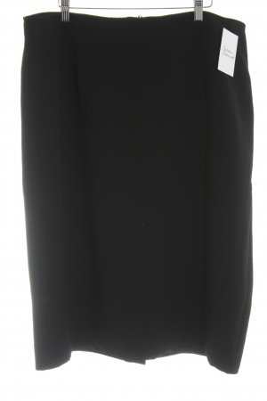 Selection by Ulla Popken High Waist Rock schwarz Business-Look
