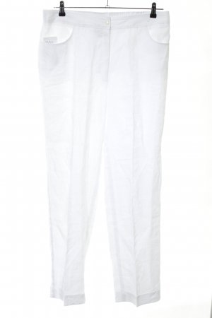 Selection by Ulla Popken Linen Pants white casual look