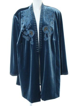 Selection by Ulla Popken Lange blazer blauw extravagante stijl