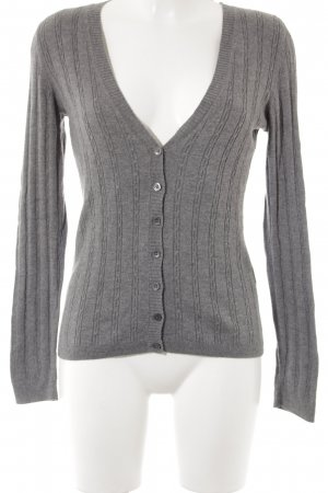 Selection by Ulla Popken Gilet tricoté gris style simple