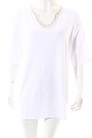 Selection by Ulla Popken T-Shirt weiß-silberfarben Elegant