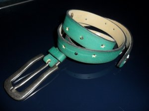 Vanzetti Leather Belt mint-khaki leather