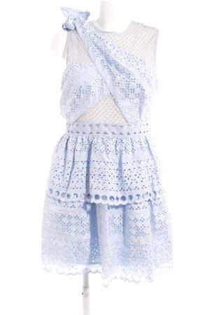 self - portrait A-Linien Kleid himmelblau florales Muster extravaganter Stil