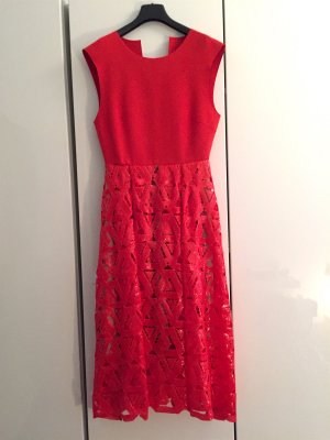 Self Portrait Geometric Sequin Dress Abendkleid Rot Pailletten Gr.38/40 NEU