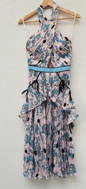 self - portrait Midi Dress multicolored polyester