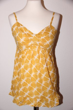 Selfgelbes Sommertop mit Muster im 70s Look NEU von H&M