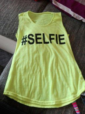 Selfie shirt neon gelb