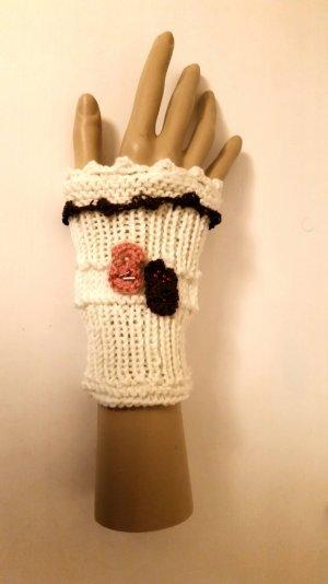 Selfmade, edle warme Handstulpen, beige/rosa