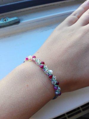 Selfmade Rainbow Perlenarmband bunt Armband unisize Pink Blau Gelb