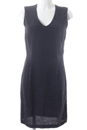SELLNAU A-Linien Kleid dunkelblau florales Muster Elegant