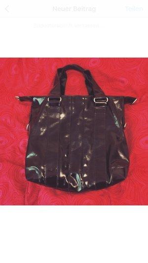 Selteb getragene Schwarze Lack Tasche