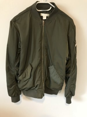 H&M Bomber Jacket olive green-orange