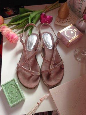 Selten getragene Sandalen rosa + Glitzer