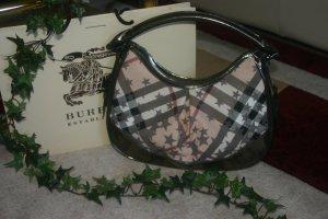 SELTEN! Original Burberry London Handtasche star check grau/silber Sterne Tasche