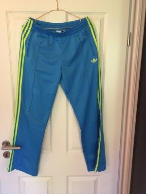 Adidas Originals Sportbroek turkoois-neongeel Polyester