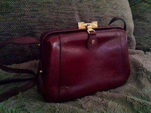 Seltene Aigner Doktor Tasche Schultertasche Koffer Handtasche