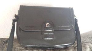 Seltene Aigner Tasche Vintage alt Schultertasche Handtasche Schwarz Voller w.Neu