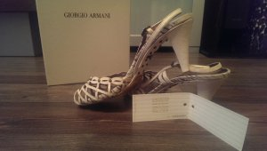 Armani High-Heeled Sandals cream