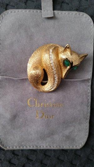 Christian Dior Brooch dark yellow