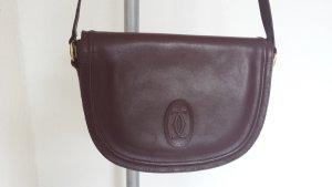 Seltene Cartier Vintage Tasche groß Saddelbag Schultertasche Handtasche