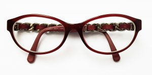 Chanel Glasses bordeaux acetate