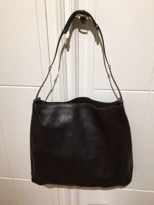 seltene Gucci Tasche Beutel Leder dunkelbraun