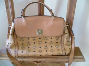 MCM Handbag black-beige leather